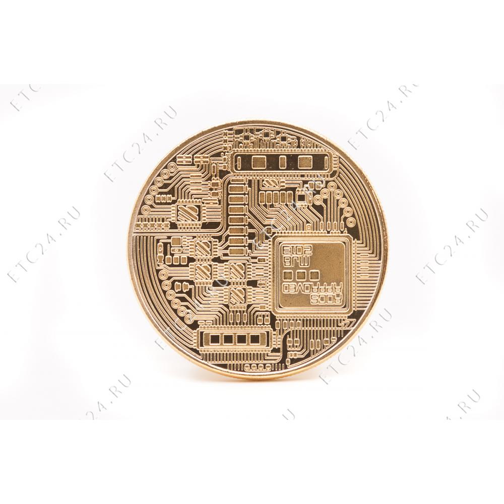 Сувенирная Монета Bitcoin Gold Ver2