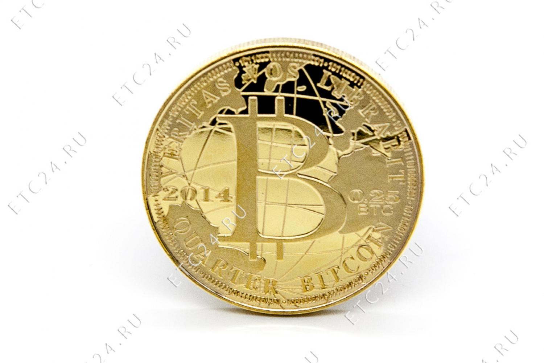 Сувенирная Монета Bitcoin Gold