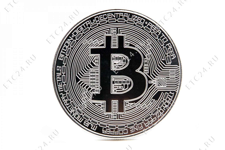 Сувенирная Монета Bitcoin (Silver)