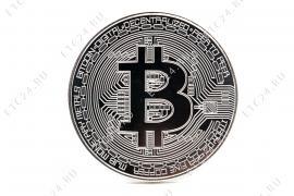 Монета Bitcoin (Silver) Ver2