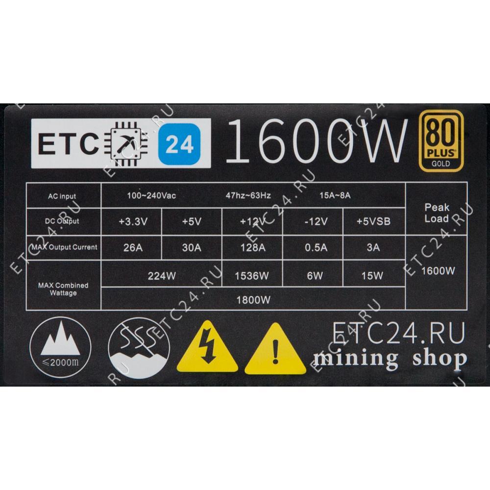 Блок питания для майнинга 1600W (ETC24)